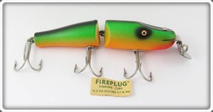 Vintage Creek Chub Fire Plug Jointed Pikie Lure 2632