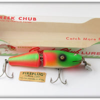 Creek Chub Rainbow Fire Baby Jointed Pikie Lure In Box 2731