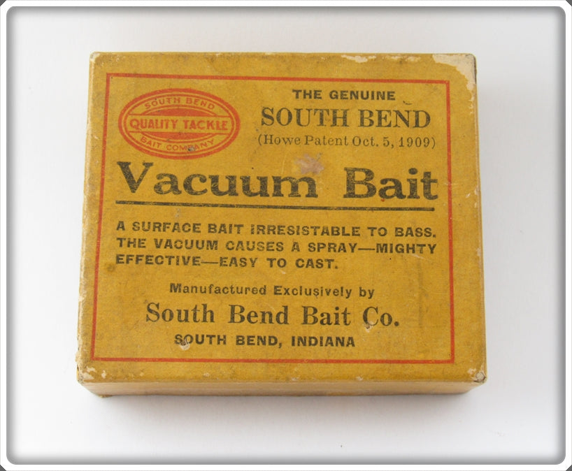 Vintage South Bend Vacuum Bait Empty Lure Box