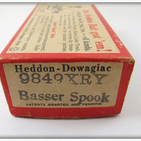 Heddon Empty Box For Yellow Shore Basser Spook 9849 XRY