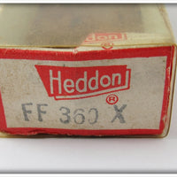 Heddon Fish Flash Silver & Clear Tiny Torpedo In Correct Box