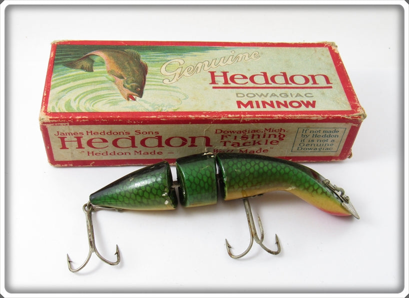 Heddon Green Scale Gamefisher In Correct Box