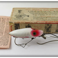 Heddon White & Red Shore No Snag River Runt In Box N9119XS