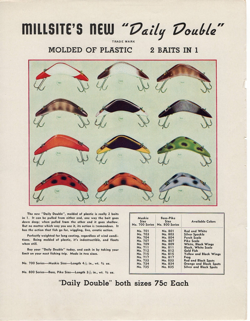 1941 Millsite Daily Double Ad