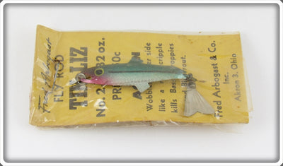 Vintage Fred Arbogast Fly Rod Tin Liz Lure In Package