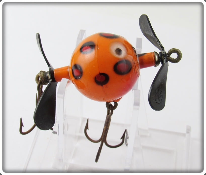 Vintage Herb Mills Orange Spotted Goof Ball Lure