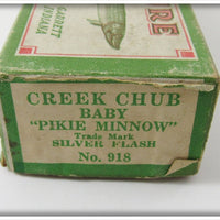 Creek Chub Silver Flash Baby Pikie In Correct End Label Box 918