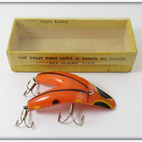 Split Fish Lure Co Orange & Black Lure In Box