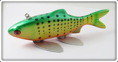 Melosh Wood Hand Carved Spotted Fish Decoy