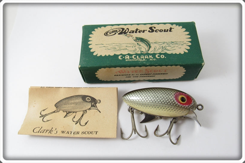 Clark's Steelback Shiner Silver Scale Water Scout In Correct Box 310