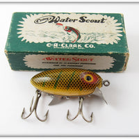 Vintage Clark's Perch Water Scout Lure In Shiner Box 310X