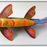 Melosh One Of A Kind Chameleon Beetle Fish Decoy Painted By John Snow