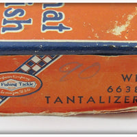 Shakespeare White Red Head Tantalizer In Correct Box WR 6638