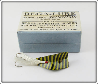 Regar Inventive Works Black & Yellow Zebra Rega-Lure In Box