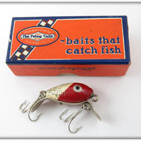 Vintage Shakespeare Red Head Flitter Dopey Lure In Correct Box WRS 6603