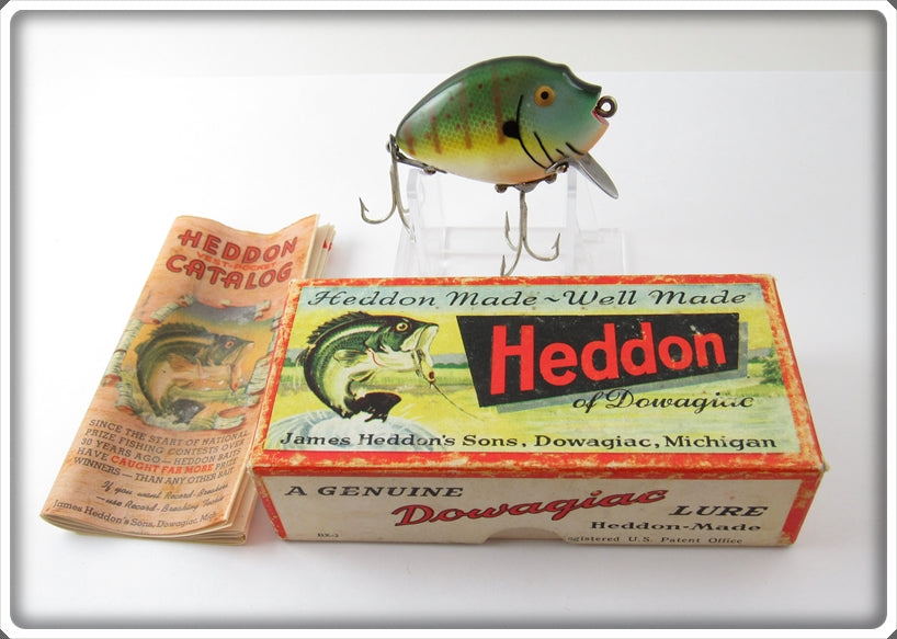 Vintage Heddon Sunfish 9630 Punkinseed Lure In Correct Box 9630SUN