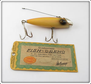 Vintage South Bend Rainbow Fish Oreno Lure With Card