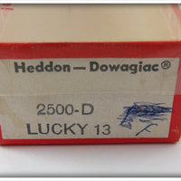 Heddon Tack Eye Green Scale Lucky 13 In Correct Box