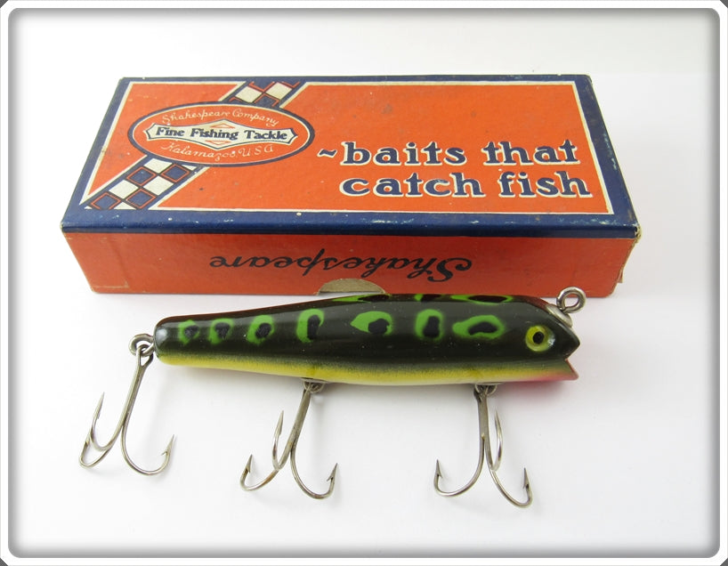 Vintage Shakespeare Frog Spot Jerkin Lure In Correct Box F 6567