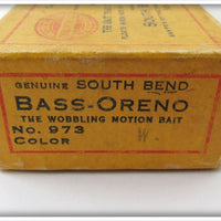 South Bend Red & White Bass Oreno In Intro Box
