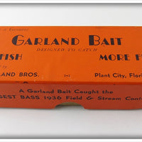 Vintage Garland Bros Empty Box For Cork Head Lure