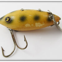 Vintage Heddon White With Green Spots Deep O Diver Lure 7009E