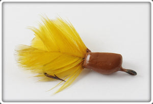 Vintage Jamison Brown & Yellow Coaxer Floating Trout Fly Lure