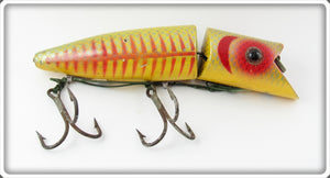 Vintage Heddon Yellow Scale 8369 YS Salmon King Zig Wag Lure