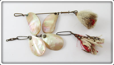 Vintage S Doering & Co Mother Of Pearl & Unknown Spinner Lure Pair