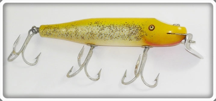 Vintage C.C.B.CO. Creek Chub Yellow Flash Husky Pikie Lure 2337
