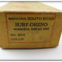 South Bend Red Head White Surf Oreno In Box