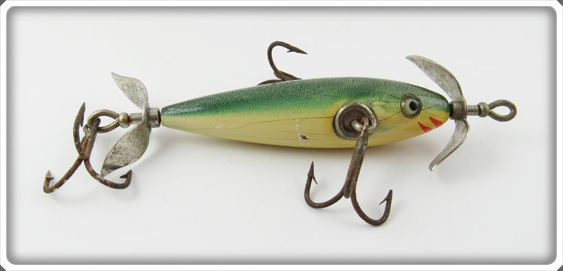 Pflueger Green Crackleback Three Hook Neverfail Minnow Lure 3185
