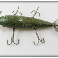South Bend Green Crackleback Five Hook Underwater Minnow