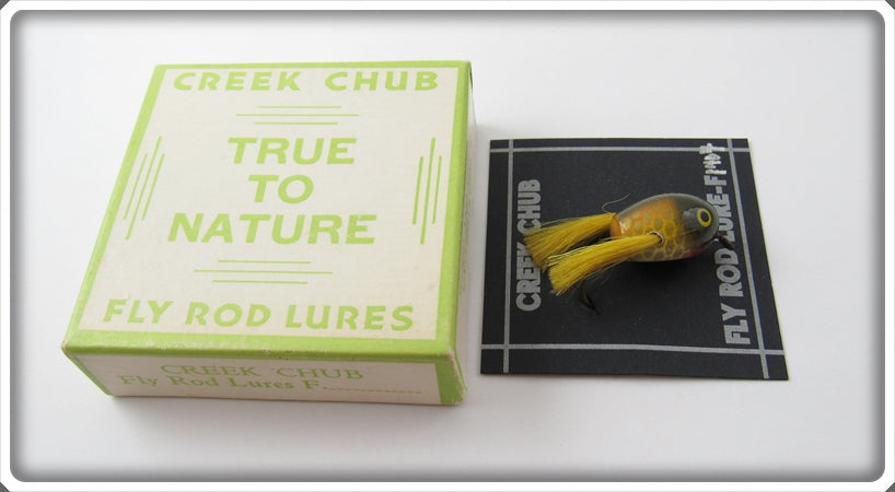 Vintage Creek Chub Golden Shiner Fly Rod Dingbat Lure In Box 1404