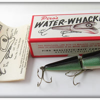Vintage Piro's Insect Blue Green Water Whacker Lure In Box 1010 WBG