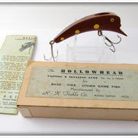 Vintage R-K Tackle Mahogany Hollowhead Lure In Box MAH
