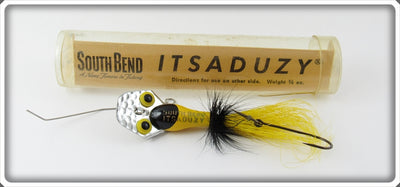South Bend Yellow & Black ItsADuzy Lure In Tube 543 BY
