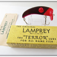Vintage Lamprey Dark Red Terror Lure In Box #100