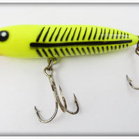 Heddon Fluorescent Yellow With Black Ribs Zara Spook