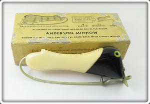 Vintage Anderson Bait Co Black & White Weedless Minnow Lure