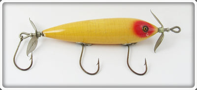 Vintage Heddon White & Red Jersey Rigged Flipper Lure 142
