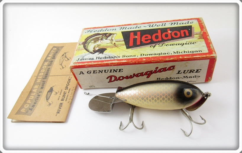 Vintage Heddon Shiner Scale Go Deeper Crab Lure In Box D1900P