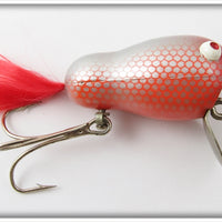 Vintage Bill Crowder Bait Co Red & Silver Scale Wobbling Willy Lure