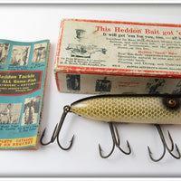 Vintage Heddon Shiner Scale Basser Lure In Box 8529 P