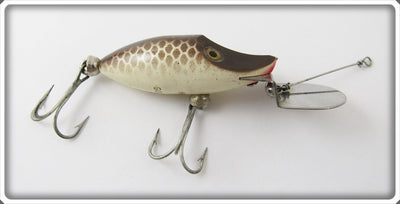 Vintage Heddon Brown Scale Tiny Go Deeper Runt Lure D350BR