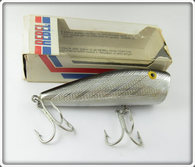 Vintage Rebel Silver & Black Windcheater Popper Lure In Box