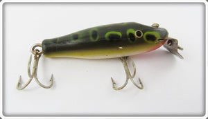 Creek Chub Frog Spot Wooden Spinning Pikie