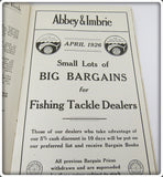Abbey & Imbrie 1926 April Fishing Tackle Wholesale Catalog