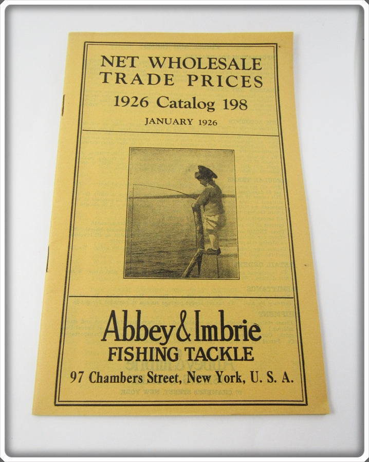 Abbey & Imbrie 1926 January Fishing Tackle Wholesale Catalog