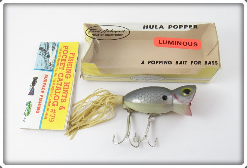 Arbogast Luminous Shad 5/8 Hula Popper In Correct Box